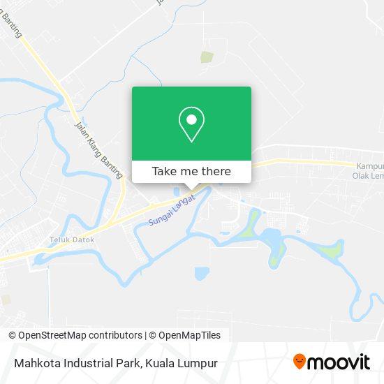 Mahkota Industrial Park map