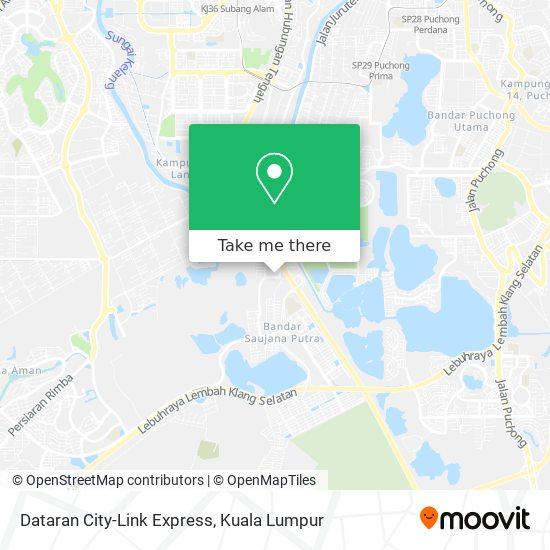 Dataran City-Link Express map
