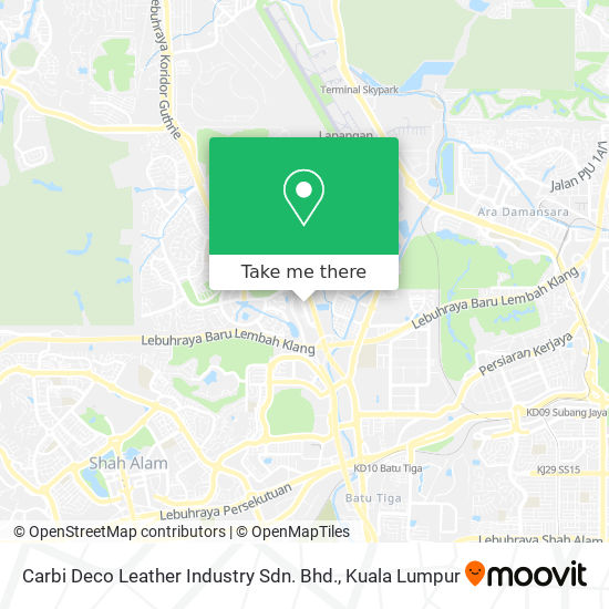 Carbi Deco Leather Industry Sdn. Bhd. map