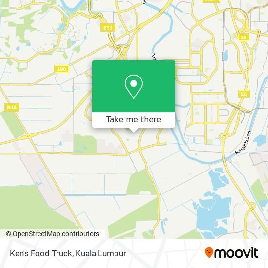 Ken's Food Truck map