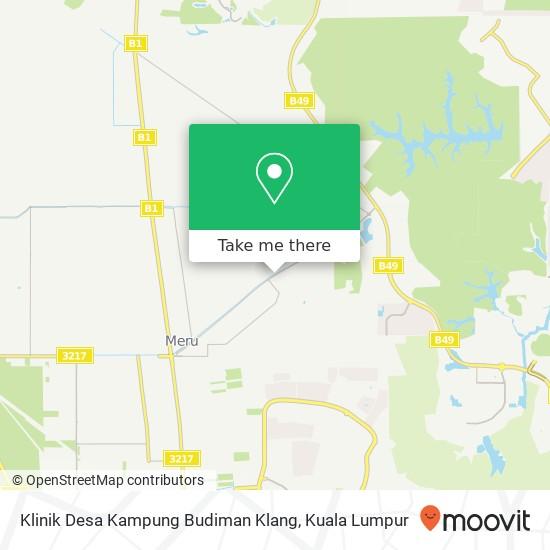 Klinik Desa Kampung Budiman Klang, Jalan Paip 41050 Kapar map