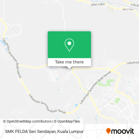 SMK FELDA Seri Sendayan map