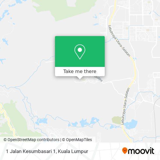 1 Jalan Kesumbasari 1 map