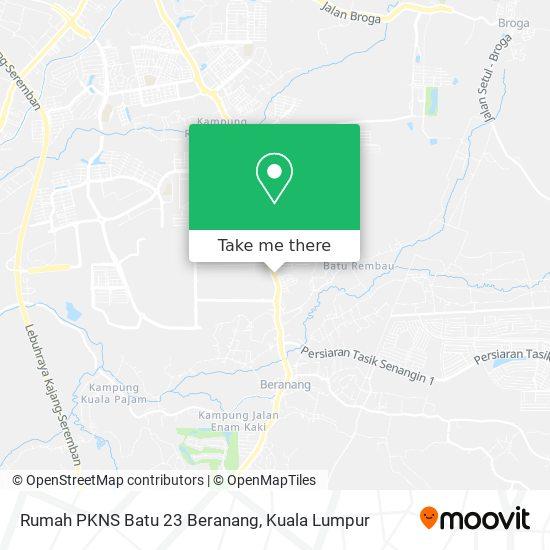 Rumah PKNS Batu 23 Beranang map