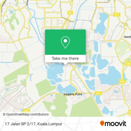 17 Jalan SP 2/17 map