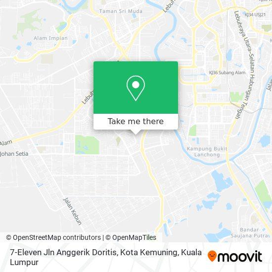 7-Eleven Jln Anggerik Doritis, Kota Kemuning map