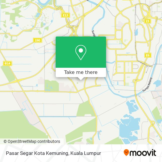 Pasar Segar Kota Kemuning map