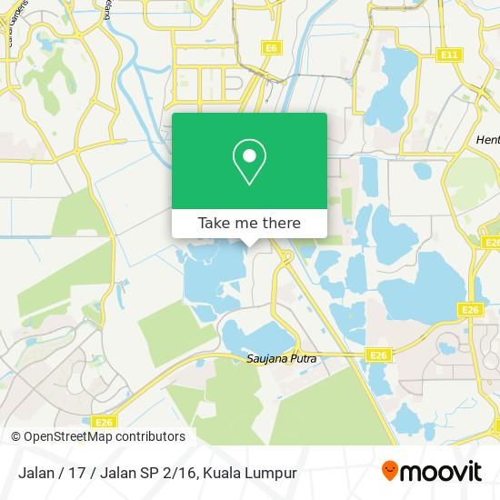Jalan / 17 / Jalan SP 2/16 map