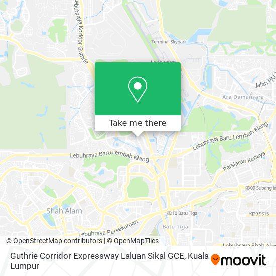 Guthrie Corridor Expressway Laluan Sikal GCE map