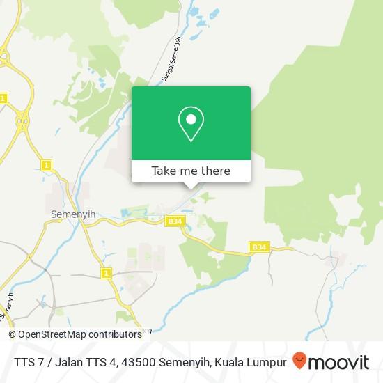 TTS 7 / Jalan TTS 4, 43500 Semenyih map