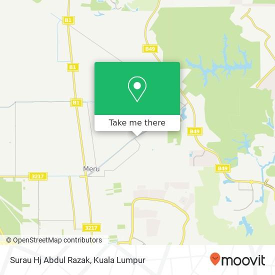Surau Hj Abdul Razak, 40170 Kapar map