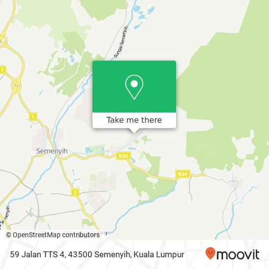 59 Jalan TTS 4, 43500 Semenyih map