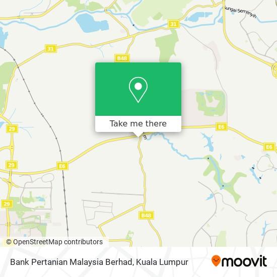 Bank Pertanian Malaysia Berhad map