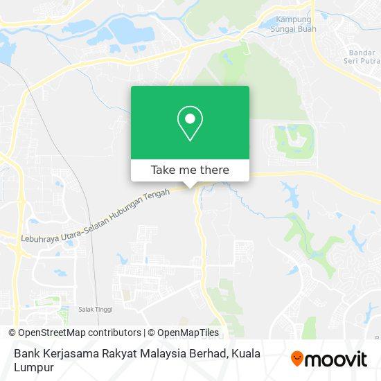Bank Kerjasama Rakyat Malaysia Berhad map