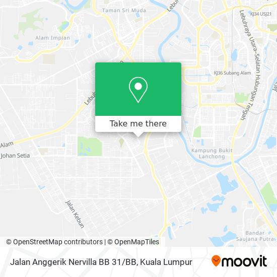 Jalan Anggerik Nervilla BB 31 / BB map