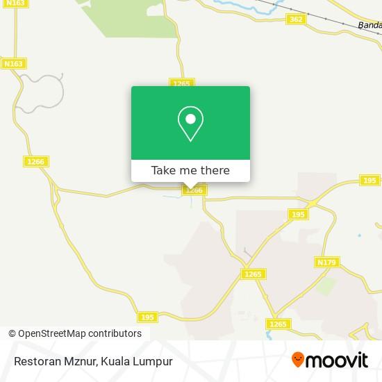 Restoran Mznur map