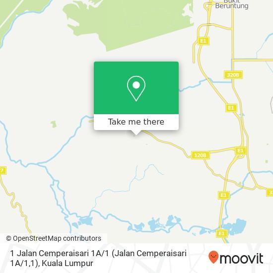 1 Jalan Cemperaisari 1A / 1 (Jalan Cemperaisari 1A / 1,1), 48010 Serendah map