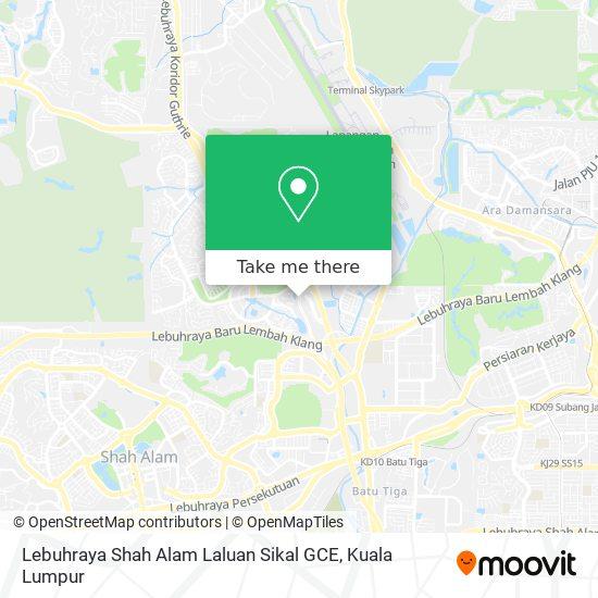 Lebuhraya Shah Alam Laluan Sikal GCE map