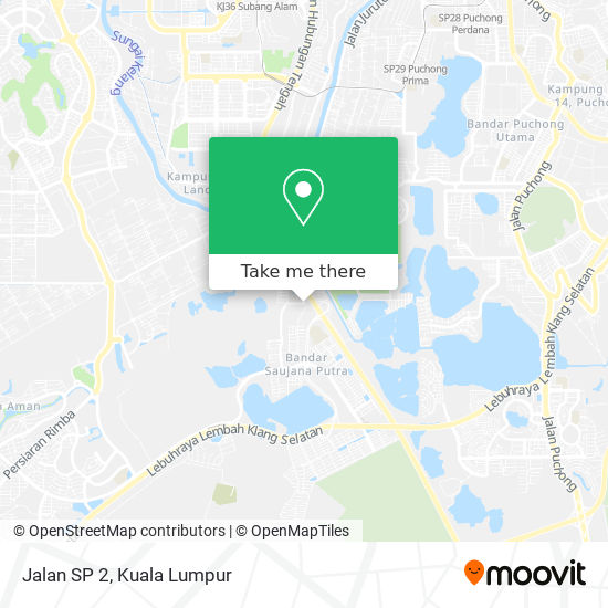 Jalan SP 2 map