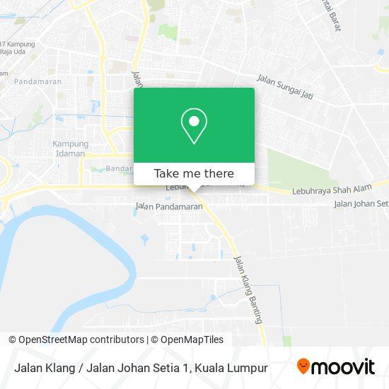 Jalan Klang / Jalan Johan Setia 1 map