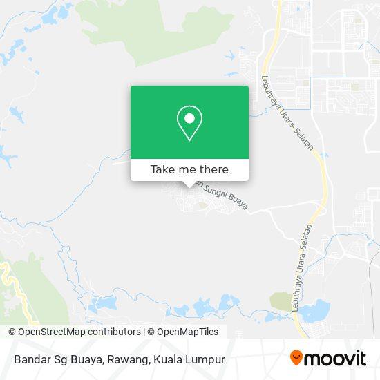 Peta Bandar Sg Buaya, Rawang