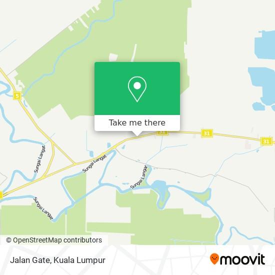 Jalan Gate map