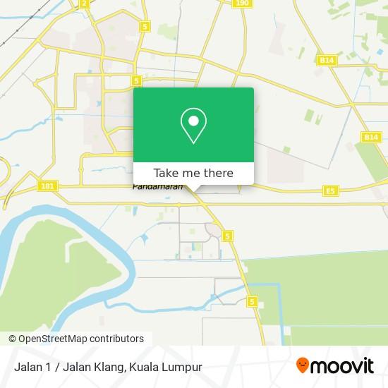 Jalan 1 / Jalan Klang map