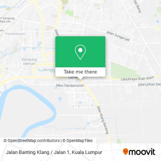 Jalan Banting Klang / Jalan 1 map