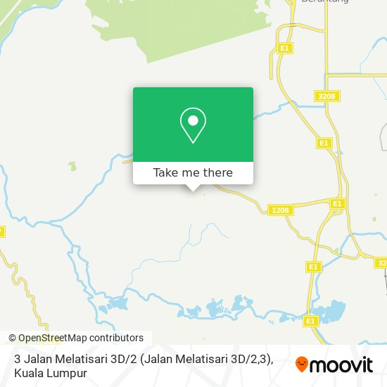 3 Jalan Melatisari 3D / 2 (Jalan Melatisari 3D / 2,3)地图