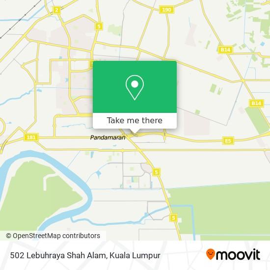 502 Lebuhraya Shah Alam map