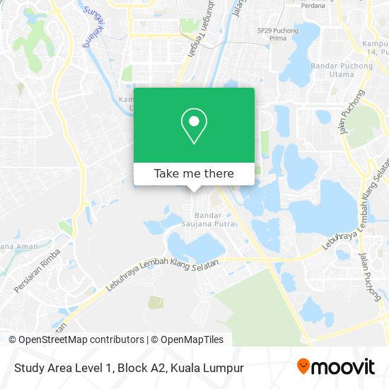 Study Area Level 1, Block A2 map