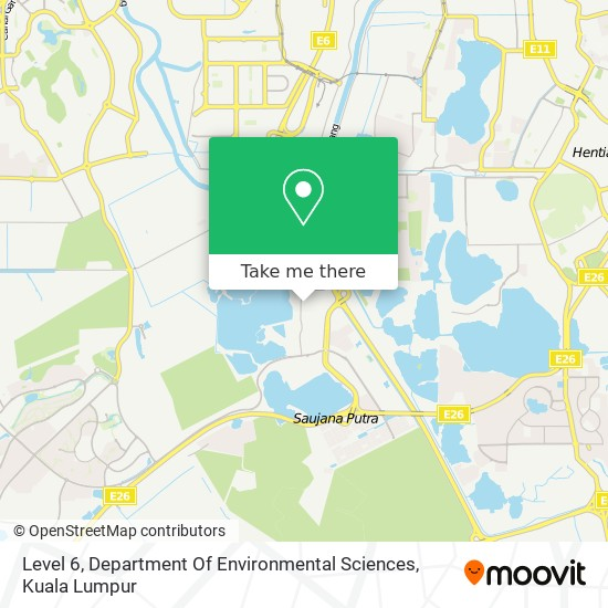 Level 6, Department Of Environmental Sciences map