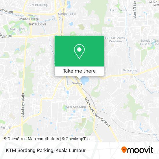 Ktm Serdang Parking map