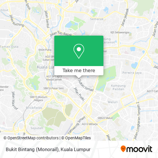 Bukit Bintang (Monorail) map