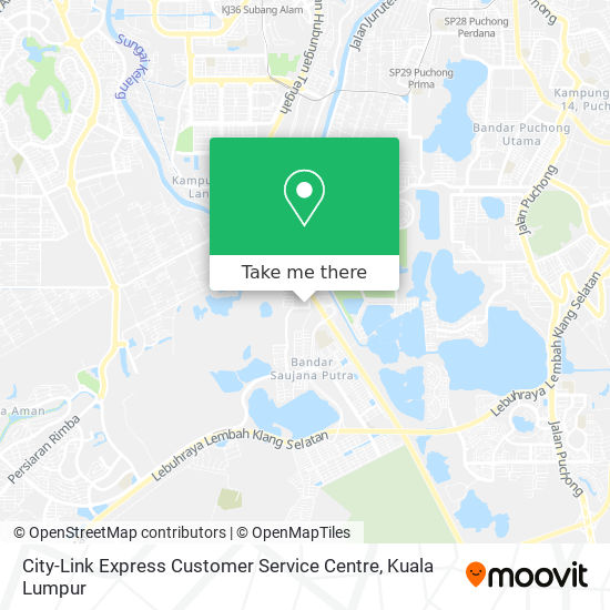 City-Link Express Customer Service Centre map