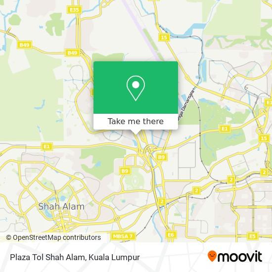 Plaza Tol Shah Alam map