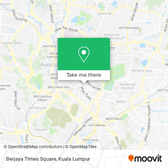 Berjaya Times Square地图