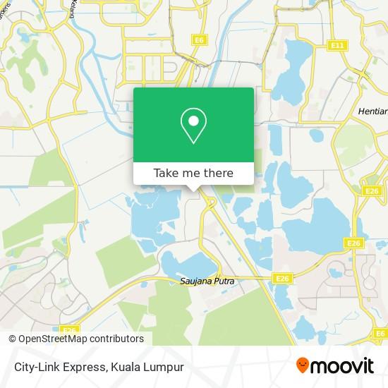 City-Link Express map