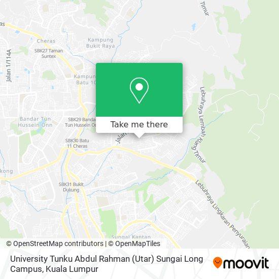 University Tunku Abdul Rahman (Utar) Sungai Long Campus map