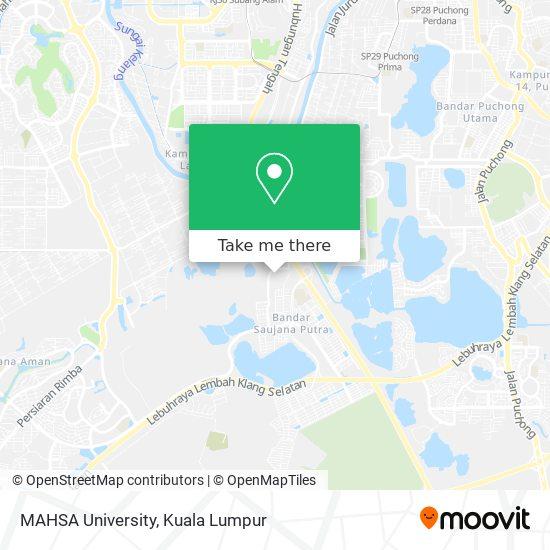MAHSA University map