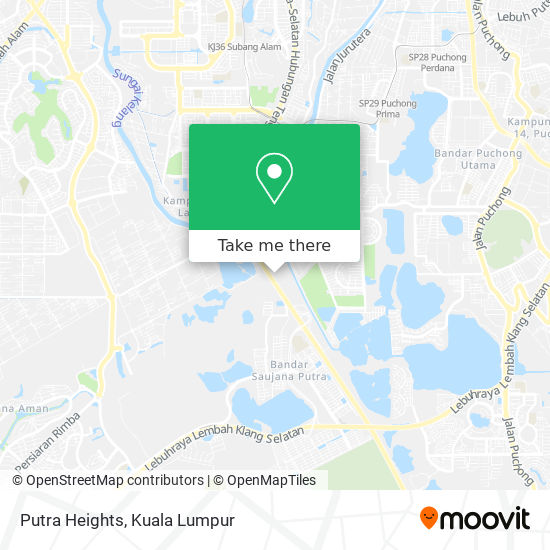 Putra Heights map