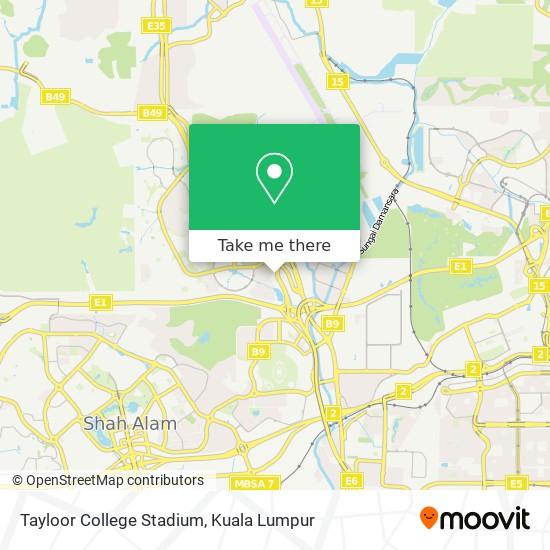 Tayloor College Stadium map