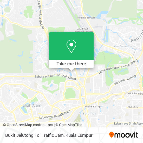 Bukit Jelutong Tol Traffic Jam map
