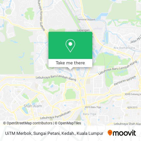 UiTM Merbok, Sungai Petani, Kedah. map