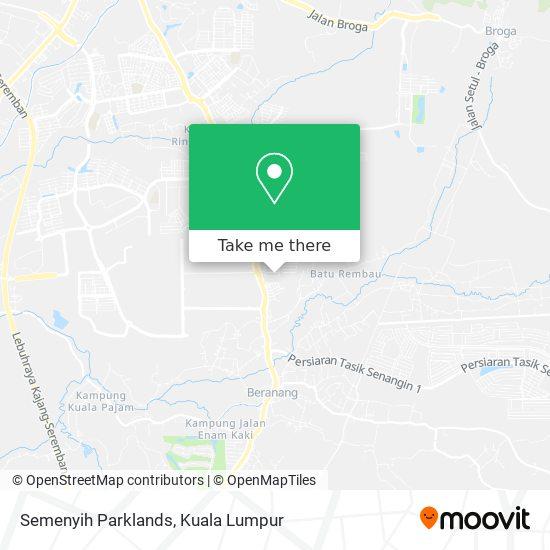 Semenyih Parklands map
