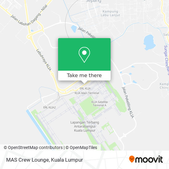 MAS Crew Lounge map