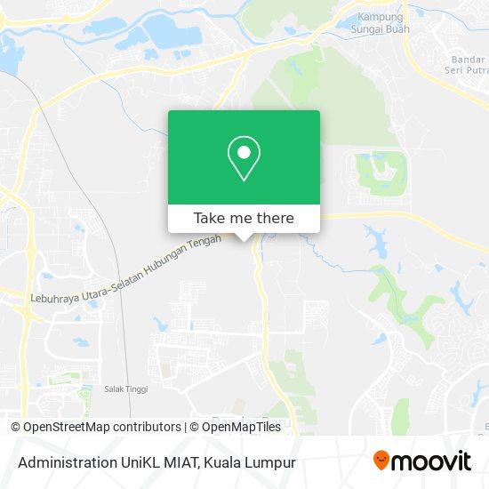 Administration UniKL MIAT map