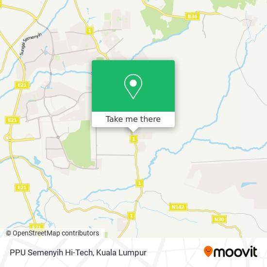 PPU Semenyih Hi-Tech map