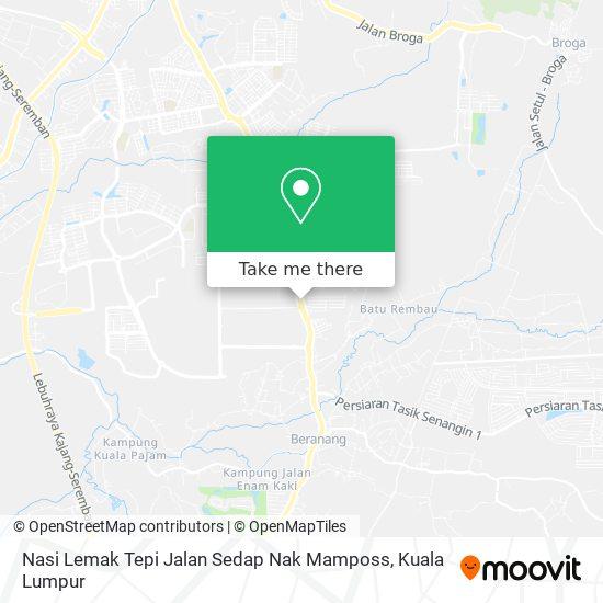 Nasi Lemak Tepi Jalan Sedap Nak Mamposs map