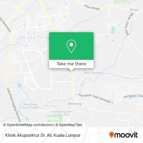 Klinik Akupunktur Dr. Ali map